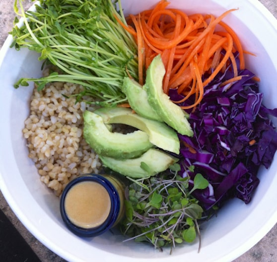 Macrobiotic rainbow bowl