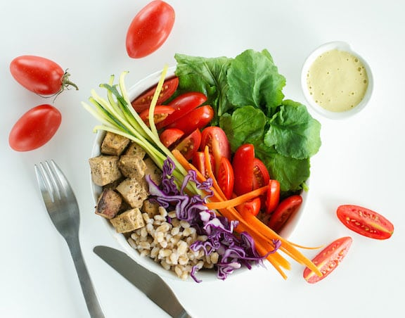 Raw / Not Raw Vegetable Barley Bowl by Ann Oliverio