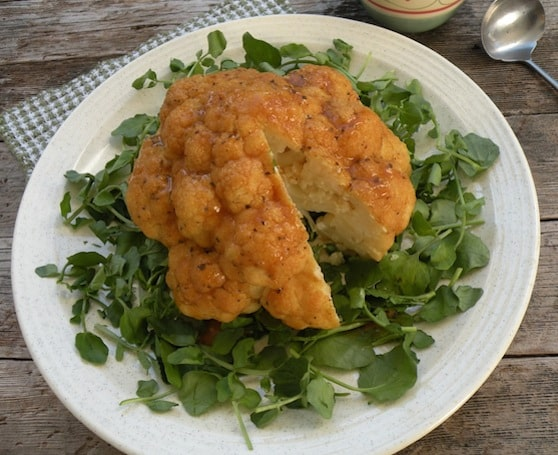 Vegan Cauliflower crown roast recipe