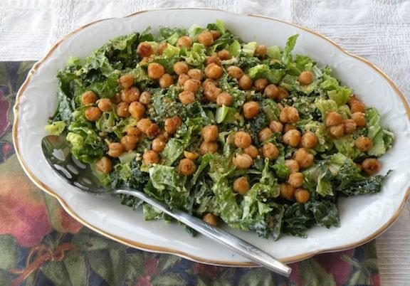 vagan Kale caesar salad