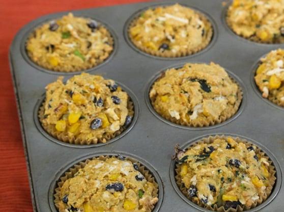 Black Bean Zucchini Corn Muffins