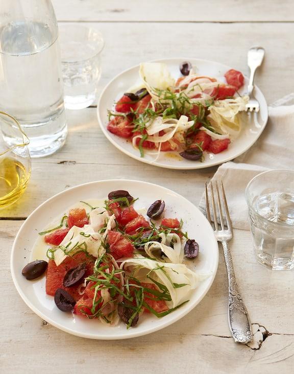 Blood orange and olive salad recipe by Jason Wyrick