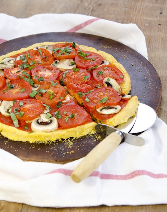 Polenta Pizza Crust by Dreena Burton