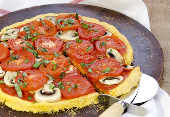 Polenta Pizza Crust recipe by Dreena Burton