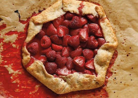 Vegan Rustic Strawberry Tart