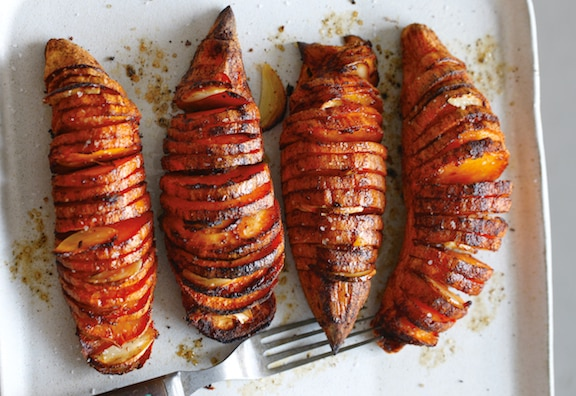 Accordion-Style Sweet Potatoes
