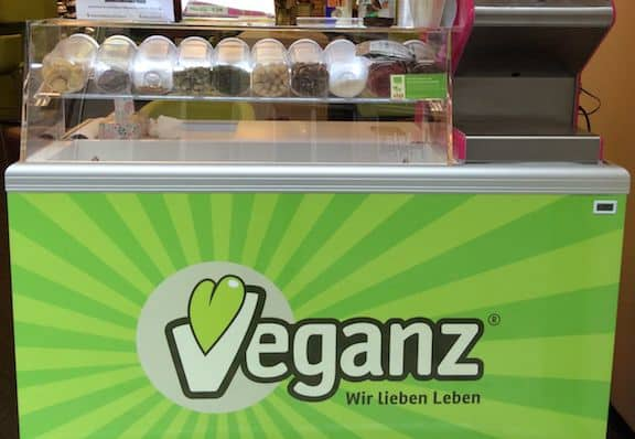 Veganz Germany- ice cream stand