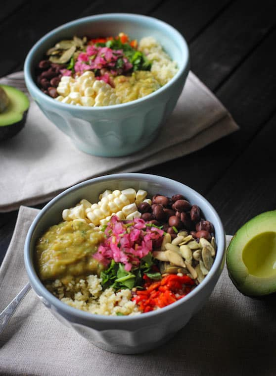 "Mexican Cauliflower ""Rice"" bowl"