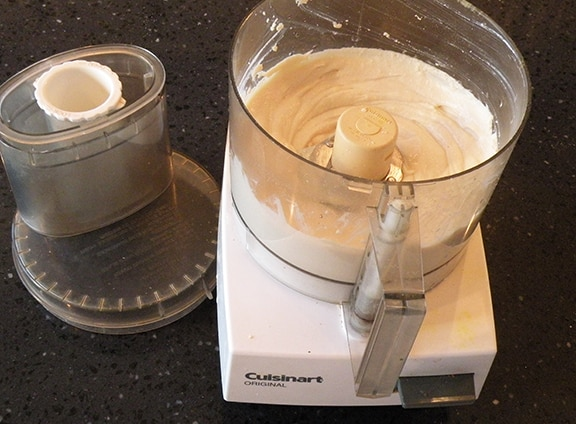 Silken tofu in a food processor