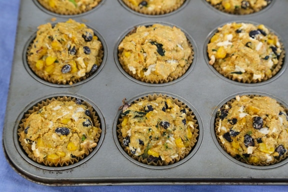 black bean, corn, and zucchini muffins