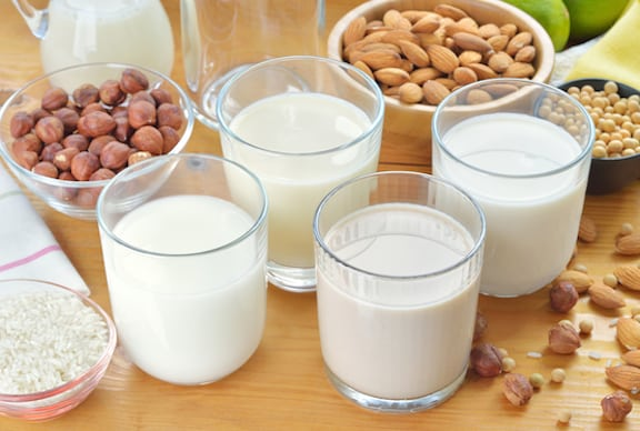 Vegan milk varieties