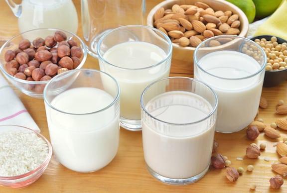Vegan milk varieties