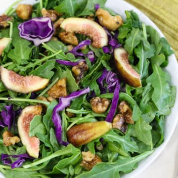 Arugula and Fresh Fig Salad with toasted walnuts