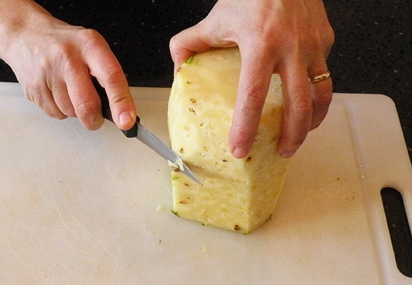 How to cut fresh pineapple step by step
