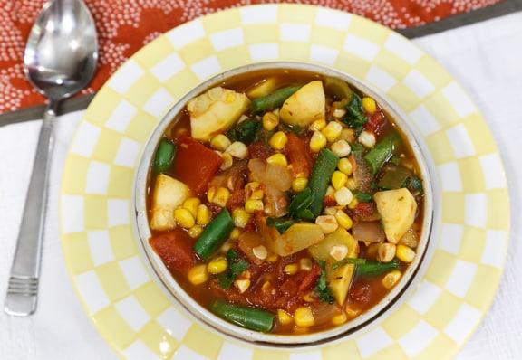 Southwestern Fresh Corn Stew