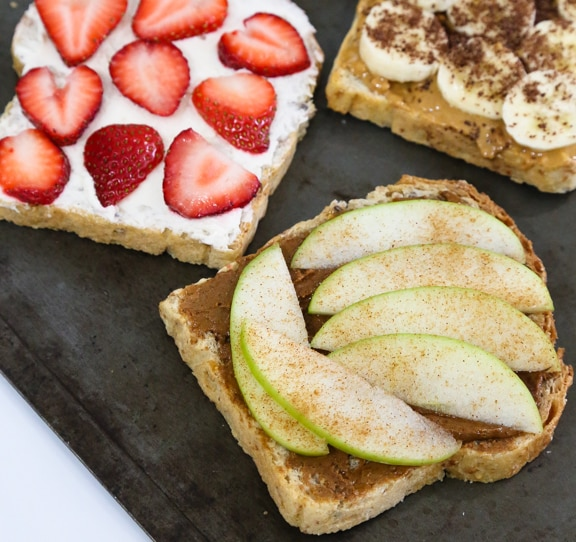 vegan sweet toast toppings