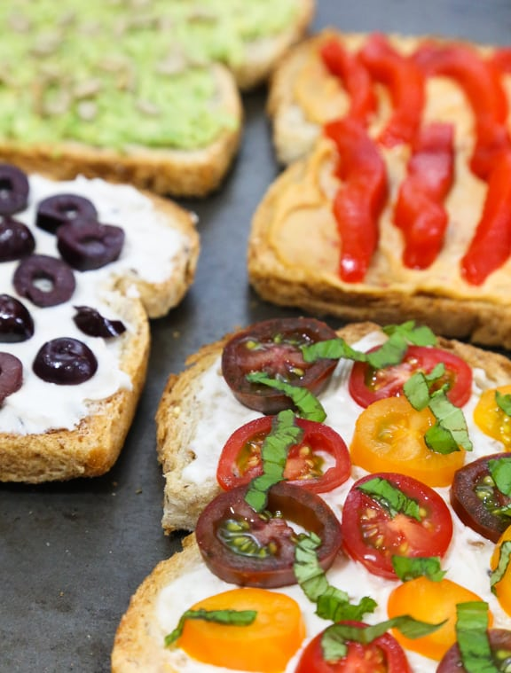 Savory Toast toppings