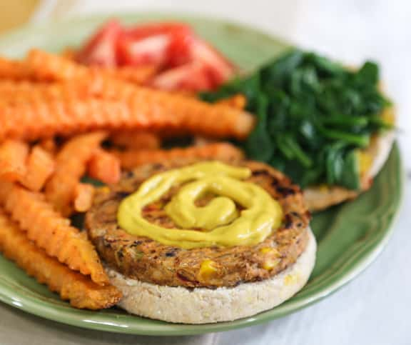 Vegan veggie burger emergency dinner