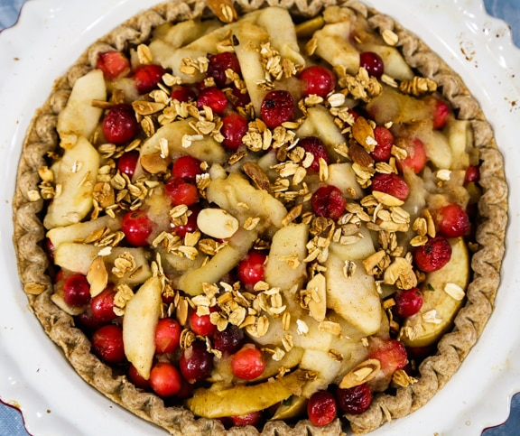 Vegan Apple Cranberry Pie