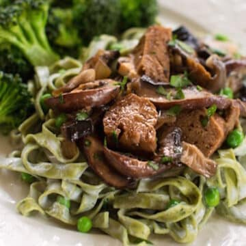 Vegan Seitan Stroganoff recipe