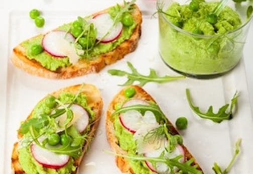 Green pea and arugula spread