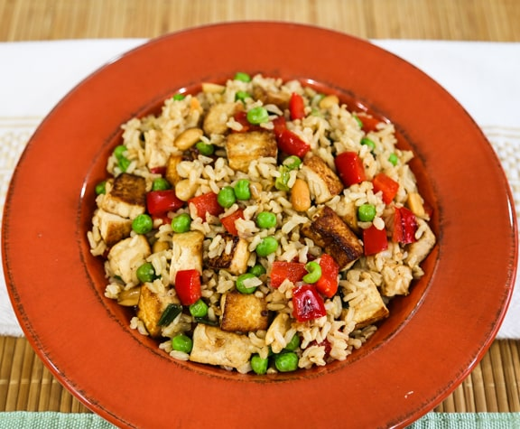 Asian-Style Peanut Rice and Tofu