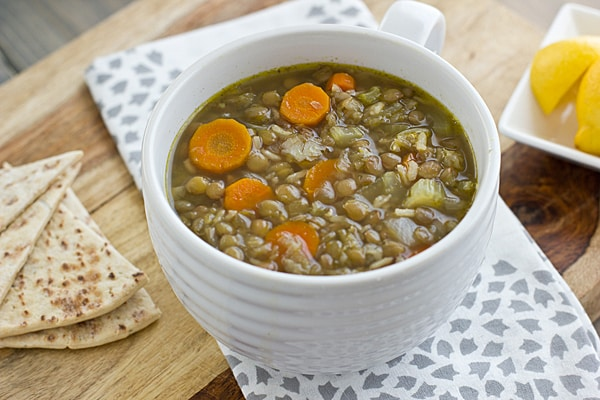Middle Eastern Lentil and Rice Soup from Oh My Veggies