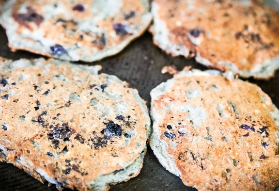 Vegan Blueberry-Oat Pancakes