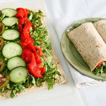 Lavash Hummus Veggie Wrap