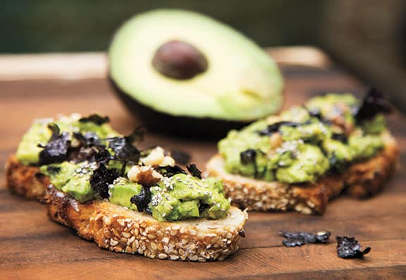 Avocado Nori Crostini by Julie Morris