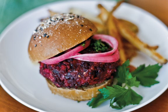 Beet and Brown Rice Burgers