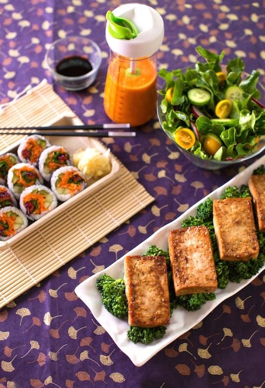 Tofu teriyaki dinner