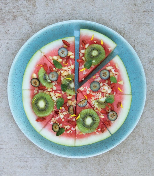 "Watermelon ""Pizza"" snack"