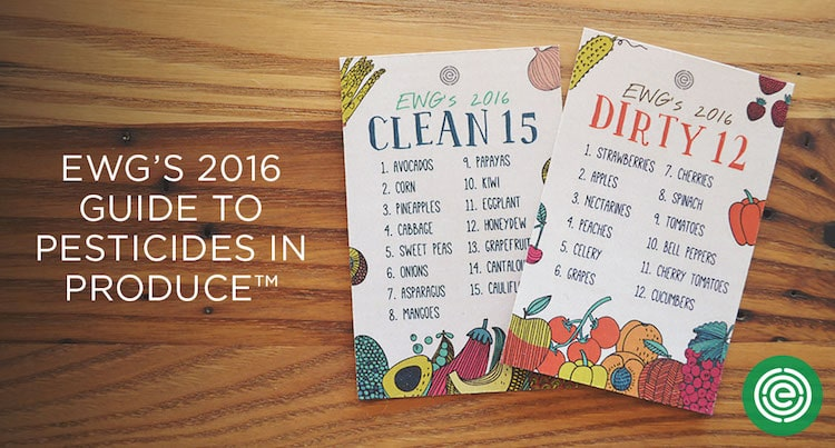 EWGs Dirty dozen and clean fifteen Lists
