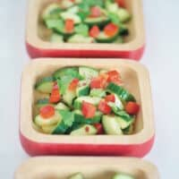 Sweet spiced chili cuke salad
