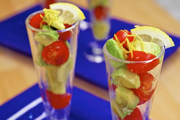 Avocado parfaits recipe by Laura Theodore