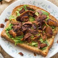 Avocado Coconut Bacon Toast