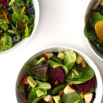 Mixed baby greens salads