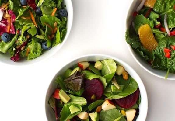 Mixed baby greens salads