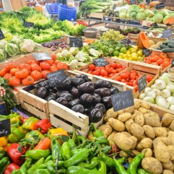 Vegetables at a farm market