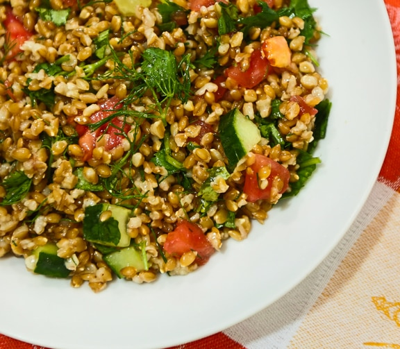 Einkorn Wheat Berry Salad recipe