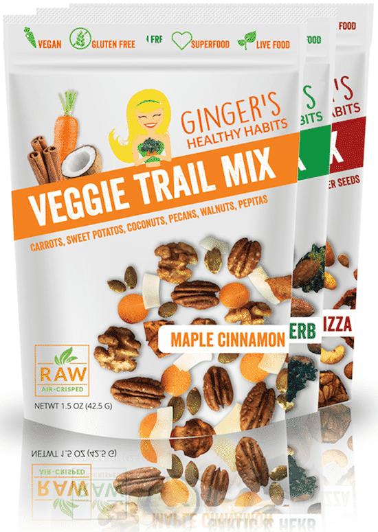 Ginger's Veggie Trail Mix Variety Pack