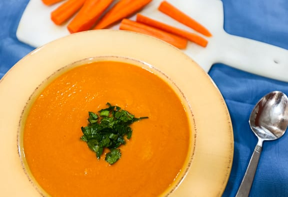Coconut Curried Carrot Soup