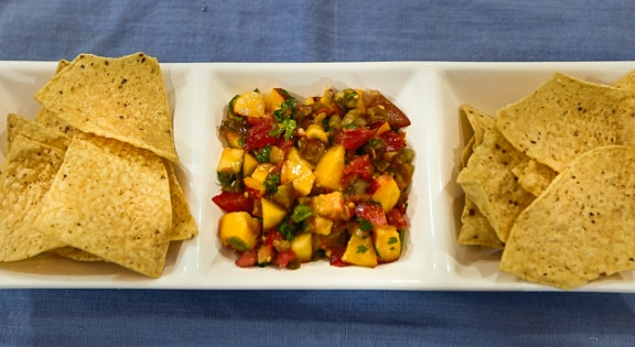 Peach and tomato Salsa fresca