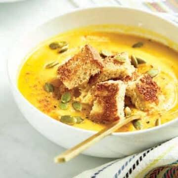 Thai Carrot Sweet Potato soup by Angela Lidden