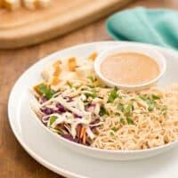 Ramen slaw with tofu recipe by Kathy Freston