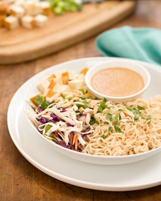 Ramen slaw with tofu recipe by Kathy Freston