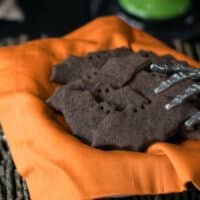 Vegan bat cookies for Halloween by Kathy Hester