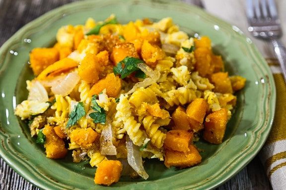 "butternut squash and pasta ""mac and cheese"""
