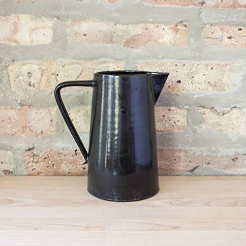 large black and brown ceramic pitcher handmade gifts